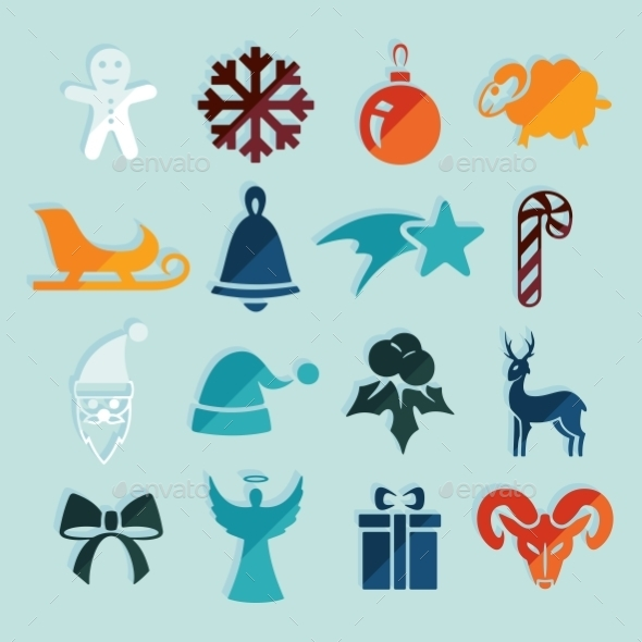 GraphicRiver Set Of Christmas Icons 11468568