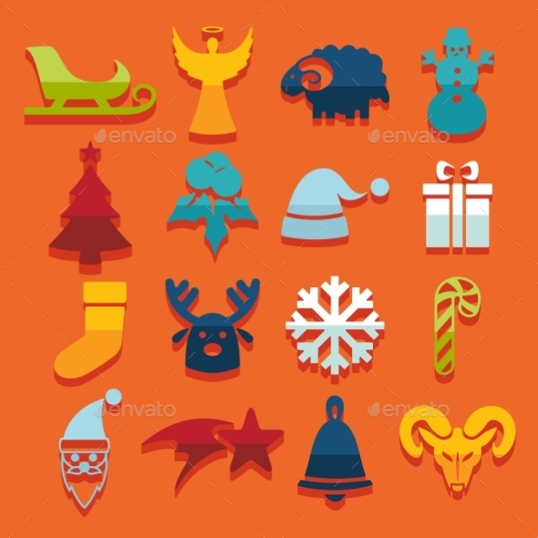 GraphicRiver Set Of Christmas Icons 11468572