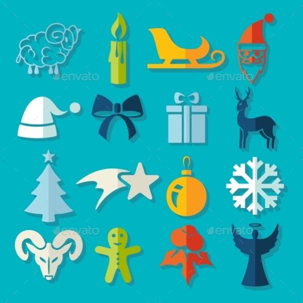 GraphicRiver Set Of Christmas Icons 11468573
