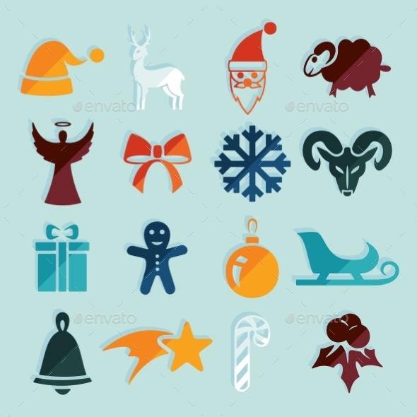GraphicRiver Set Of Christmas Icons 11468575