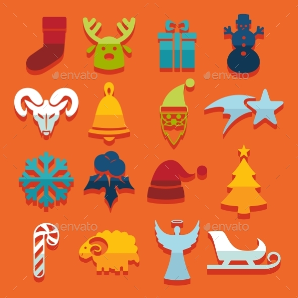 GraphicRiver Set Of Christmas Icons 11468578