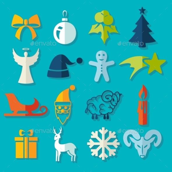 GraphicRiver Set Of Christmas Icons 11468581