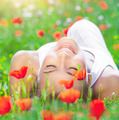 Relaxation on poppy flower field - PhotoDune Item for Sale