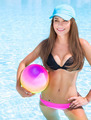 Sportive girl in swimming pool - PhotoDune Item for Sale