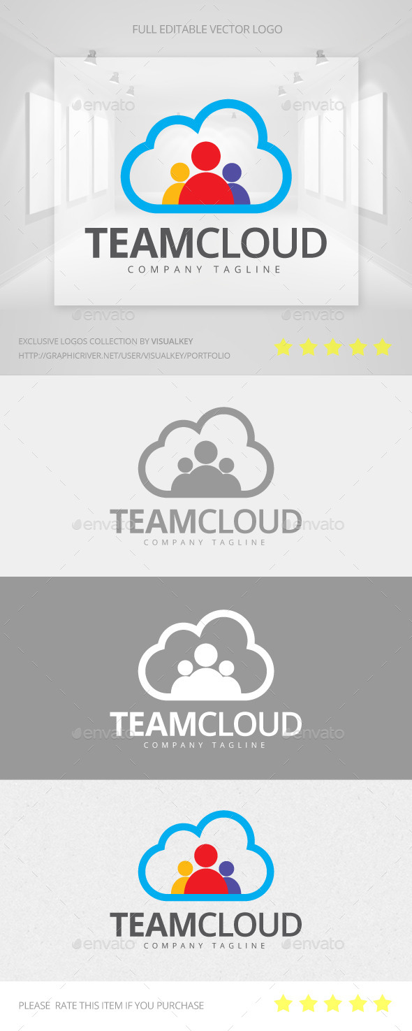 GraphicRiver Team Cloud Logo 11468679