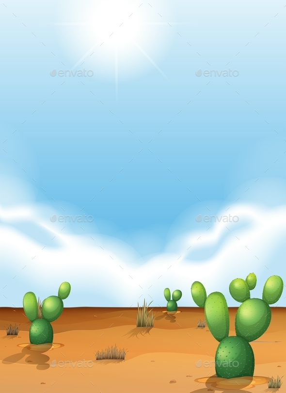 GraphicRiver Cacti in the Desert 11468683