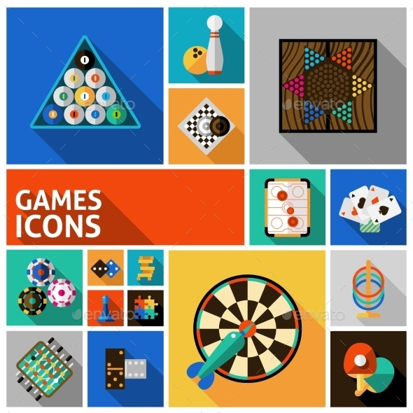 GraphicRiver Games Icons Set 11468688