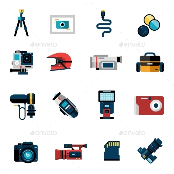 GraphicRiver Camera Icons Set 11468691