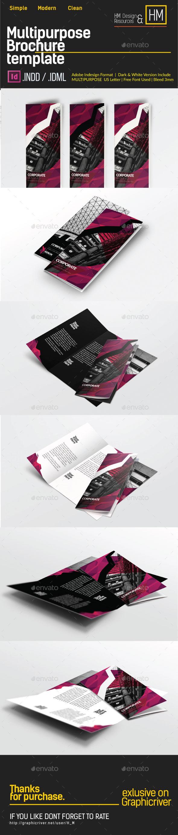 GraphicRiver Tri-Fold Polygon Modern Architecture 11468744
