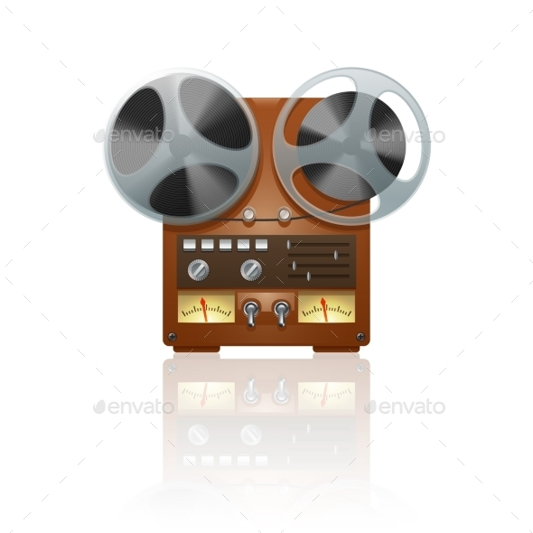 GraphicRiver Retro Tape Recorder Icon 11468749
