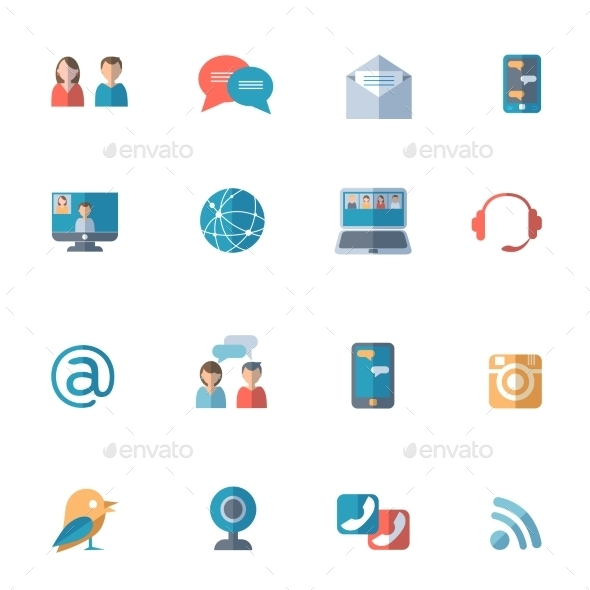GraphicRiver Social Networks Icons Set 11468751