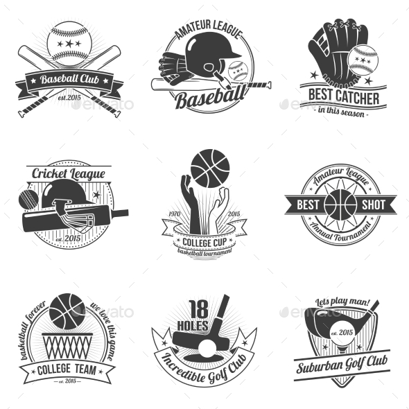 GraphicRiver Sport Label Set 11468771