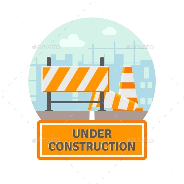 GraphicRiver Under Construction Flat Icon 11468801