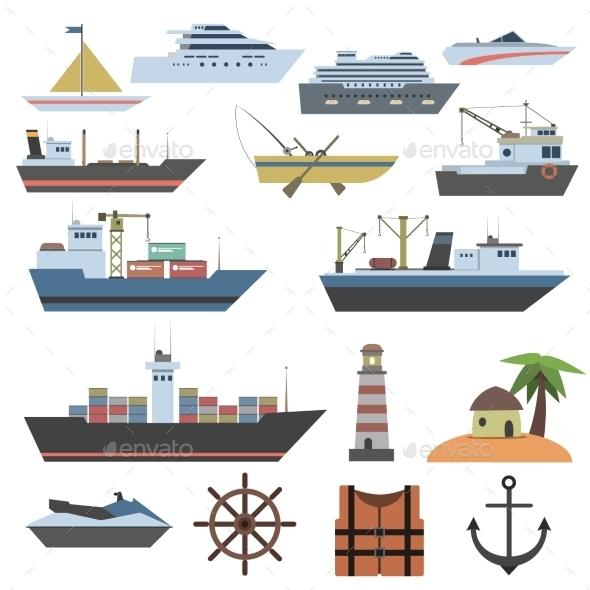 GraphicRiver Ship Flat Icon 11468822
