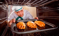 Chef cooking in the oven. - PhotoDune Item for Sale