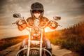 Biker girl on a motorcycle - PhotoDune Item for Sale
