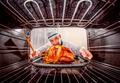Cooking chicken in the oven. - PhotoDune Item for Sale