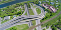Aerial view of a freeway intersection - PhotoDune Item for Sale