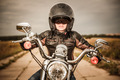 Biker girl on a motorcycle - PhotoDune Item for Sale