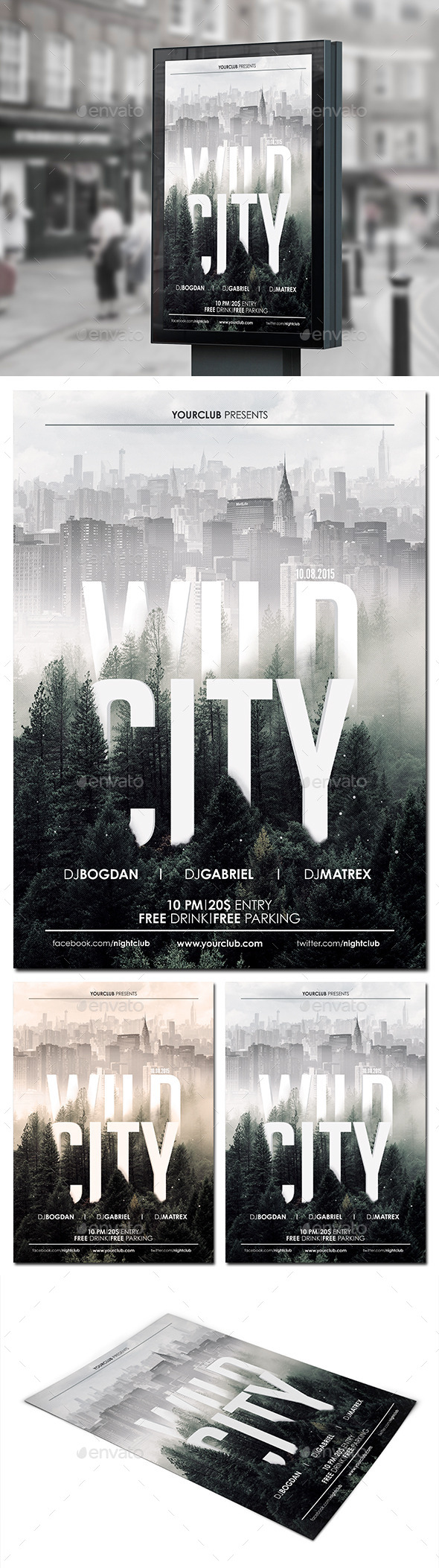 GraphicRiver Wild City Flyer Poster 11469098