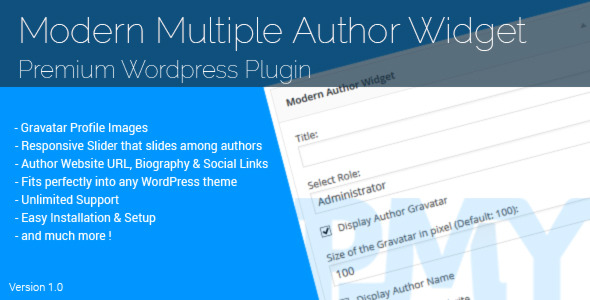 CodeCanyon Modern Multiple Author Widget 11386649
