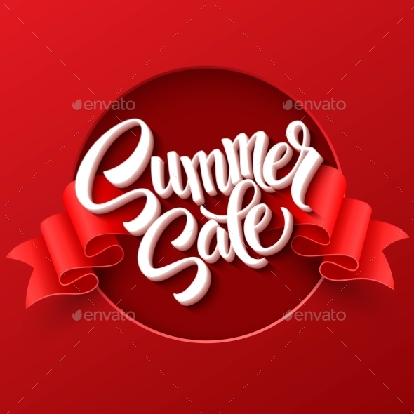 GraphicRiver Summer Sale Ribbon Label Vector Illustration 11469828