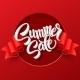 Summer Sale. Ribbon Label. Vector Illustration - GraphicRiver Item for Sale