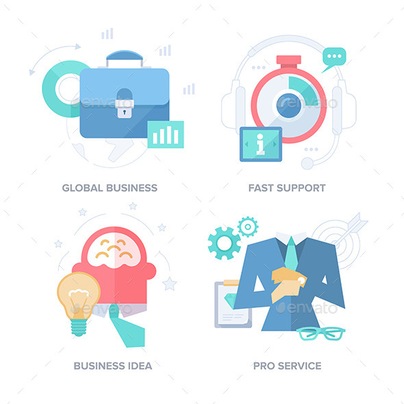 GraphicRiver Strategies for Business Results Abstract Features 11469875