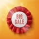 Big Sale, Realistic Red Fabric Award Ribbon. - GraphicRiver Item for Sale