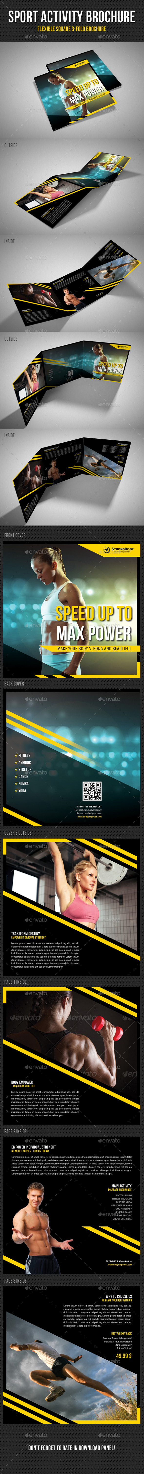 GraphicRiver Sport Activity Square 3-Fold Brochure V04 11470014