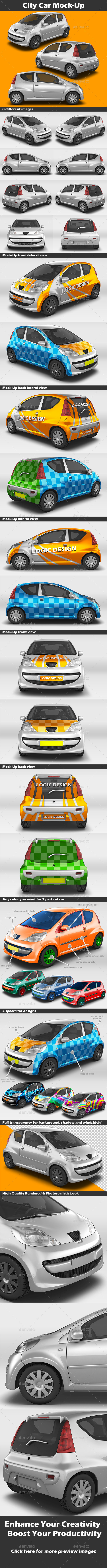 GraphicRiver City Car Mock-Up 11470044