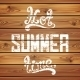 Hot Summer Time. Calligraphic Handwritten - GraphicRiver Item for Sale