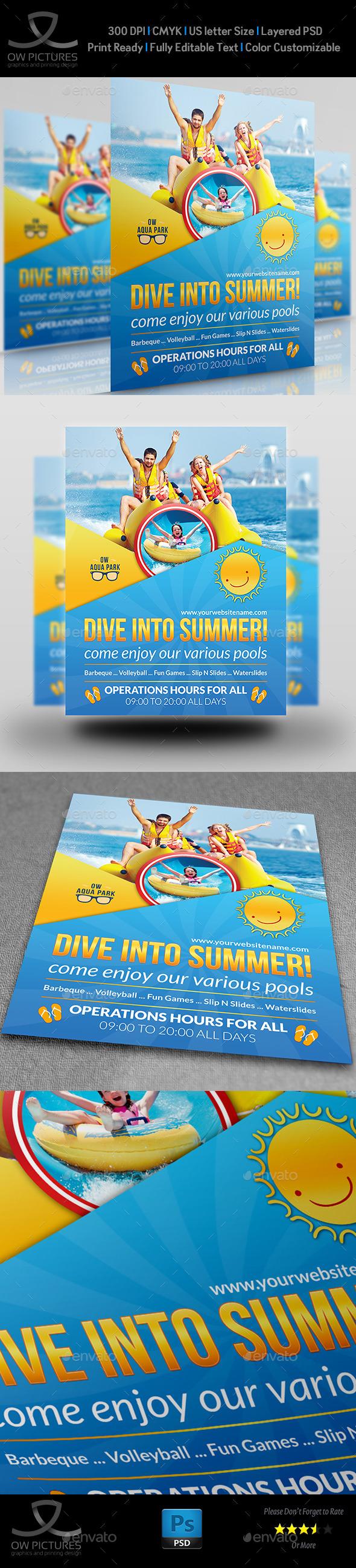 GraphicRiver Aqua Park Flyer Template 11470193
