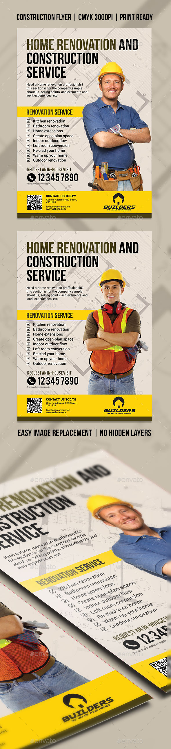 GraphicRiver Company Construction and Building Flyer 11406656