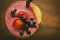 Fresh Blueberry and Strawberry Smoothie on a background - PhotoDune Item for Sale