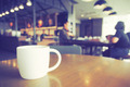 Cup of Coffee in coffee shop vintage color tone style - PhotoDune Item for Sale