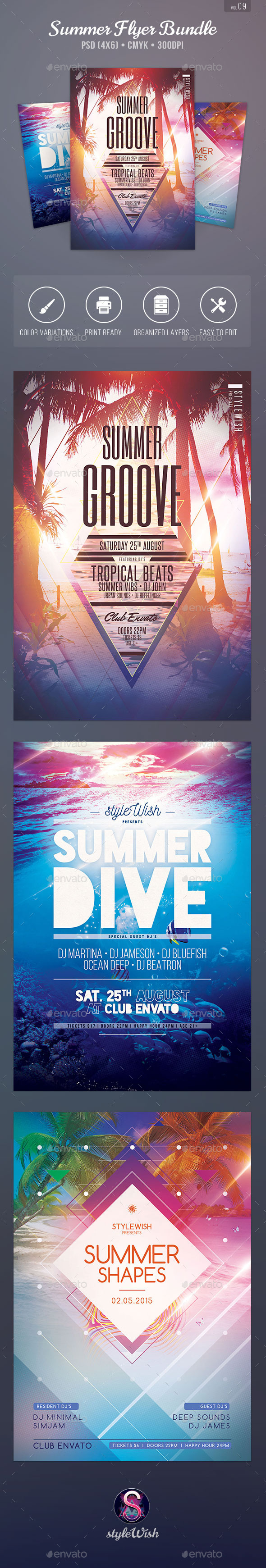 GraphicRiver Summer Flyer Bundle Vol.09 11470665