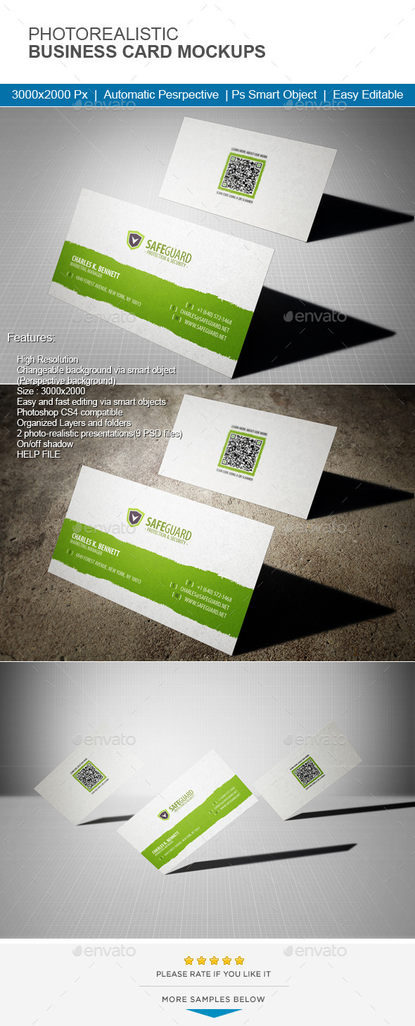 GraphicRiver Photorealistic Business Card Mock-Up 11470833