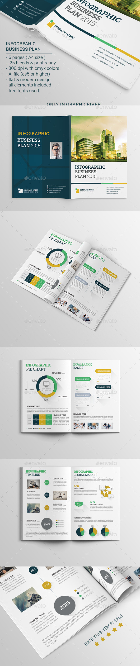 GraphicRiver Infographic Business Plan Brochure 11471038