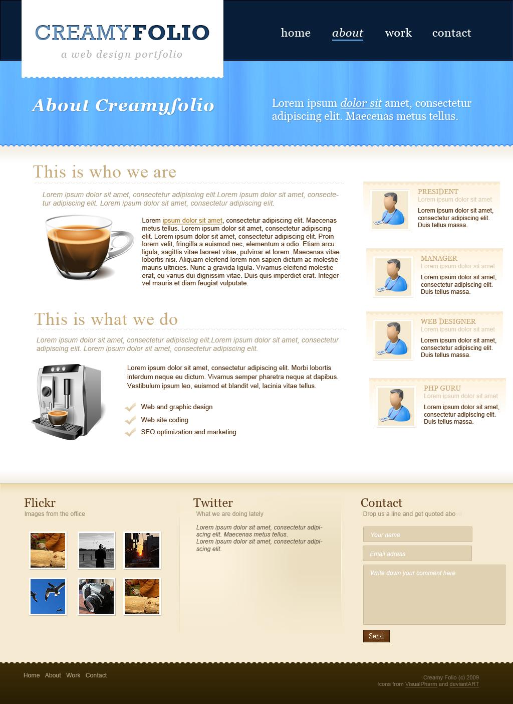 Creamyfolio PSD