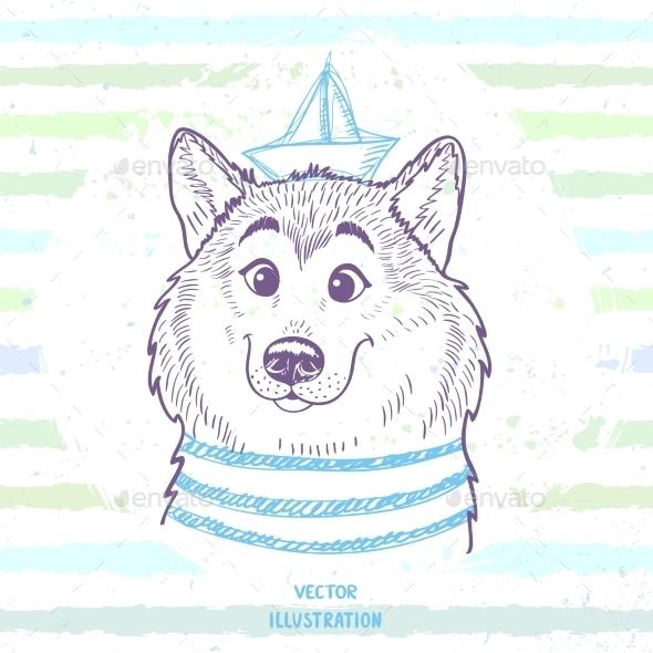 GraphicRiver Dog Marine Style 11471127