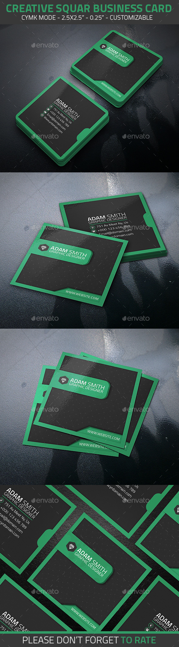 GraphicRiver Creative Squar Business Card 11471222