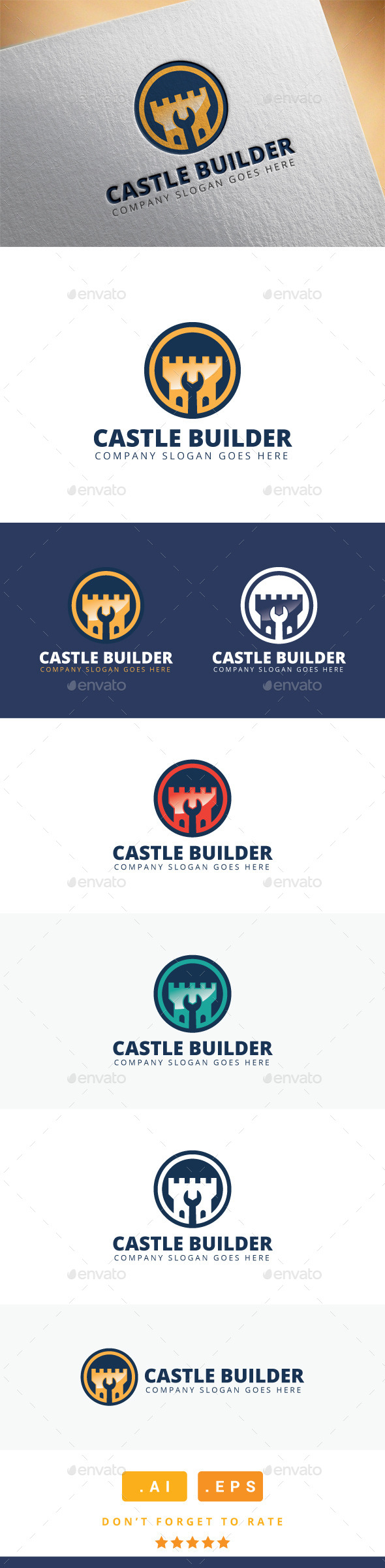 GraphicRiver Castle Builder Logo 11471234