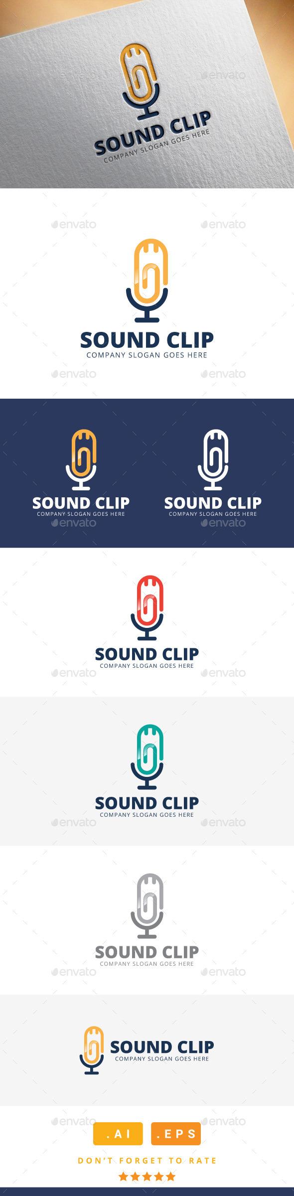 GraphicRiver Sound Clip Logo 11471288