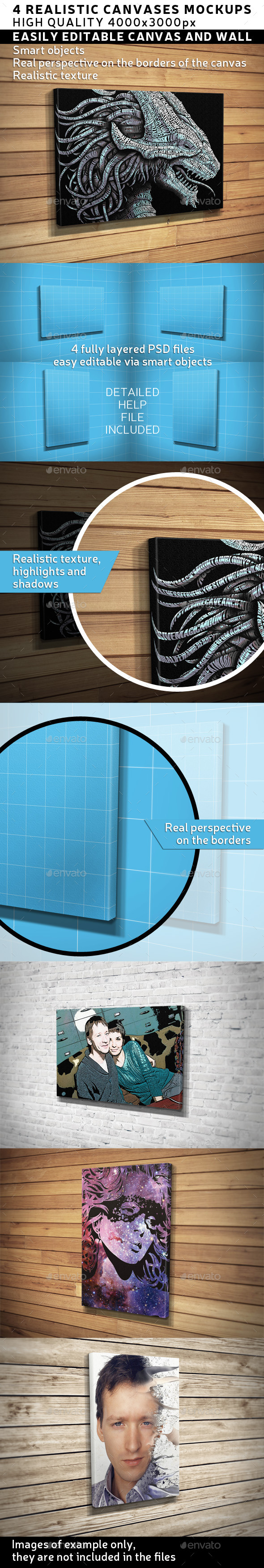GraphicRiver Canvas Poster Mock-Up 11471326