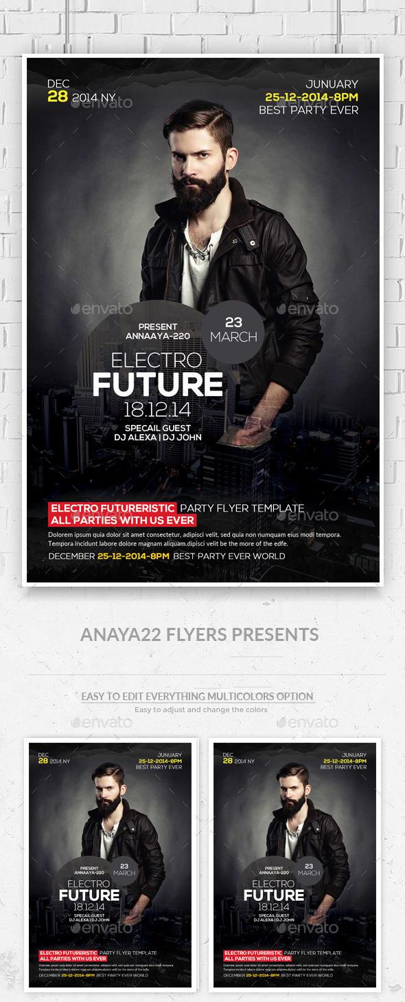 GraphicRiver Electro Concert Dj Flyer 11471477