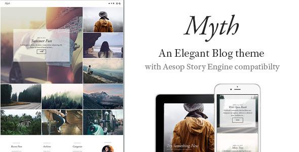 Myth – An Elegant Storytelling WordPress Blog Theme (Personal) Download