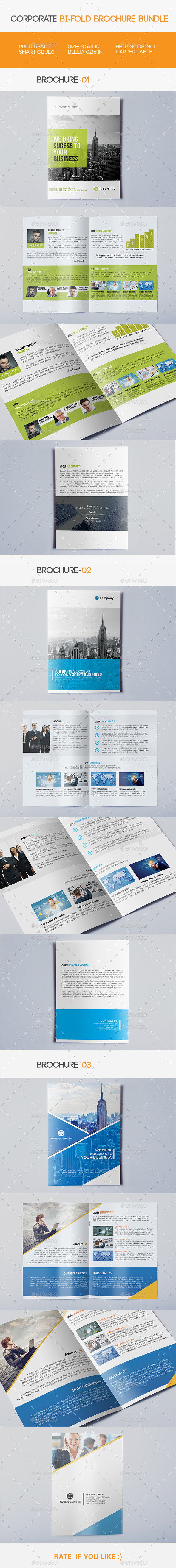 GraphicRiver Corporate Bi-fold Brochure Bundle 11471927