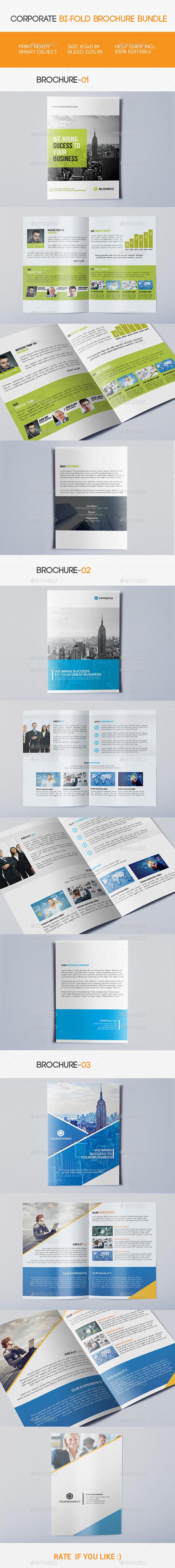 GraphicRiver Corporate Bi-fold Brochure Bundle 11471927