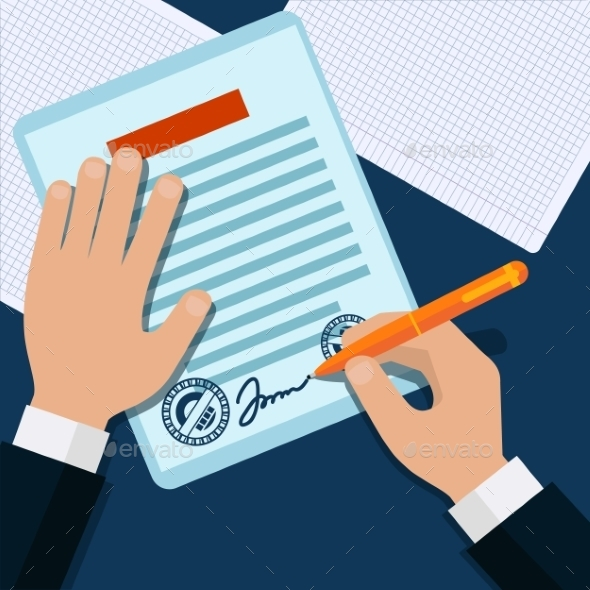 GraphicRiver Man Signs Document 11471929
